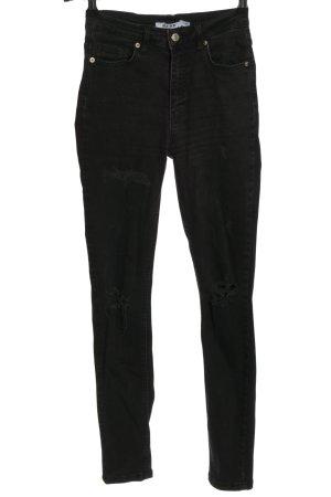 Nakd Jeans a vita alta nero stile casual