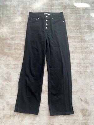 Nakd Jeans a zampa d'elefante nero Cotone