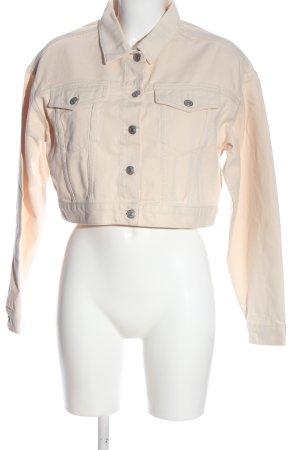 Nakd Veste en jean crème style décontracté
