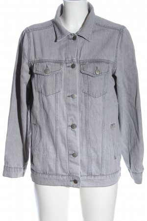 Nakd Veste en jean gris clair style décontracté
