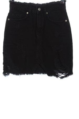 Nakd Denim Skirt black striped pattern casual look