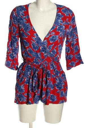 Nakd Jumpsuit blau-rot Allover-Druck Casual-Look