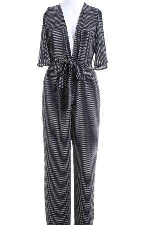 Nakd Jumpsuit schwarz-weiß Allover-Druck Casual-Look