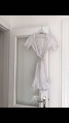 Nakd Vestido cruzado blanco Algodón