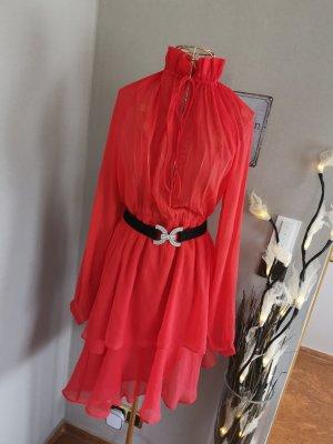 Nakd Robe mi-longue rouge-rouge brique