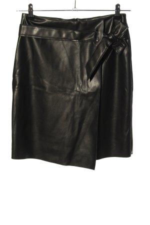 Nakd Falda de cuero de imitación negro look casual
