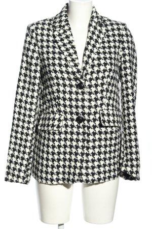 Nakd Blazer court noir-blanc motif à carreaux style d'affaires