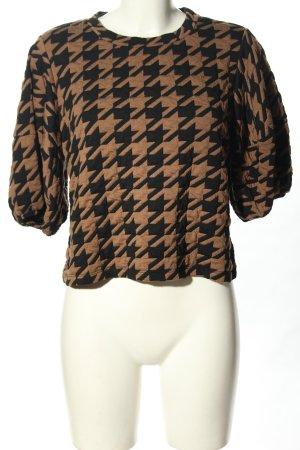 Nakd Longsleeve brown-black allover print casual look