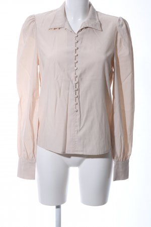 Nakd Langarm-Bluse creme Business-Look
