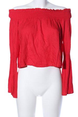 Nakd Langarm-Bluse rot Casual-Look