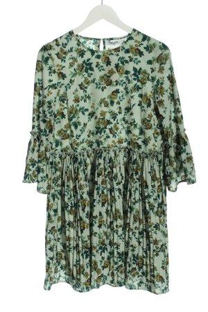 Nakd Longsleeve Dress green allover print elegant