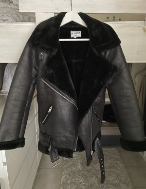 Nakd Faux Leather Jacket multicolored