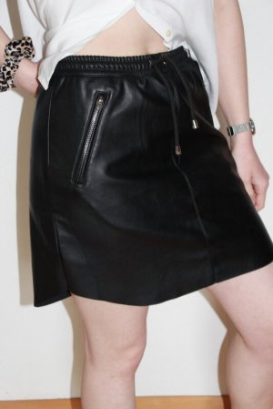 Nakd Faux Leather Skirt black polyurethane
