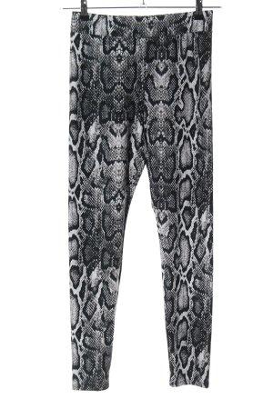 Nakd Leggings schwarz-weiß Allover-Druck extravaganter Stil