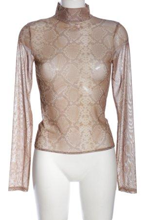 Nakd Longsleeve brown-cream allover print street-fashion look