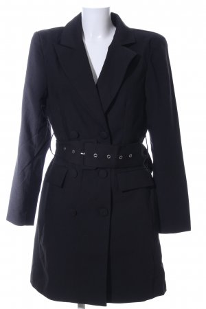Nakd Gabardina tipo vestido negro look casual