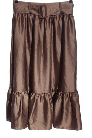 Nakd Midi Skirt brown elegant