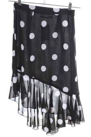 Nakd Midirock schwarz-weiß Punktemuster klassischer Stil