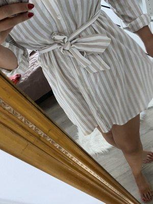 NAKD off shoulder hemdkleid gestreift Creme weiß