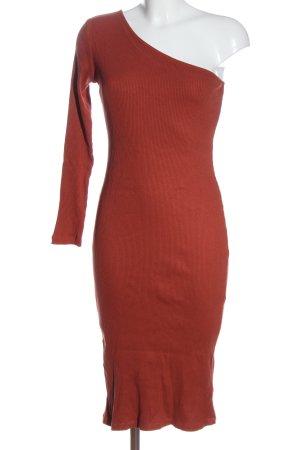 Nakd Vestido de un hombro rojo elegante