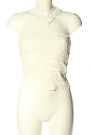 Nakd Haut avec une épaule dénudée blanc style décontracté