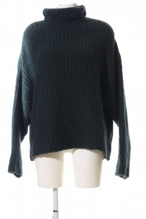 Nakd Oversized Pullover grün Zopfmuster Casual-Look