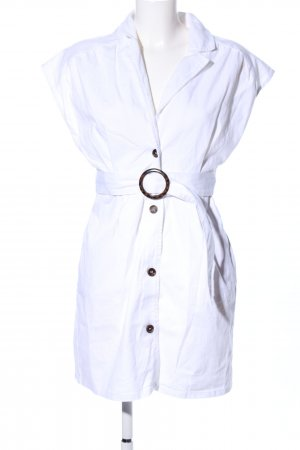 Nakd Vestido tipo polo blanco look casual