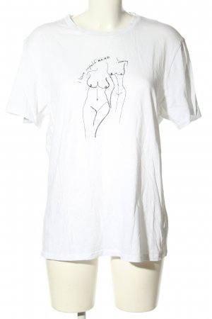 Nakd Print Shirt white-black themed print casual look
