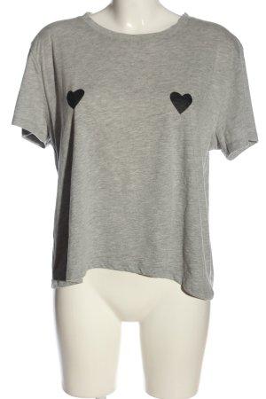 Nakd Print Shirt light grey-black flecked casual look