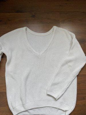 NA-KD Jersey con cuello de pico blanco