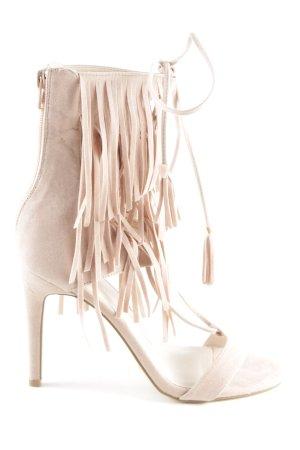 Nakd Sandalen met bandjes en hoge hakken nude extravagante stijl