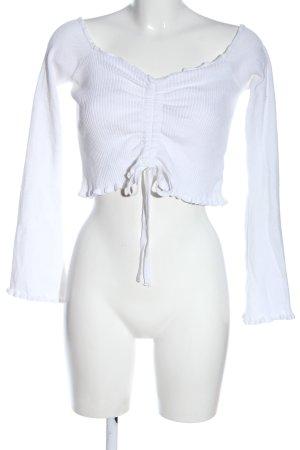 Nakd Chemise côtelée blanc style décontracté