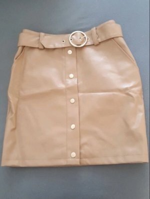 Nakd Faux Leather Skirt nude