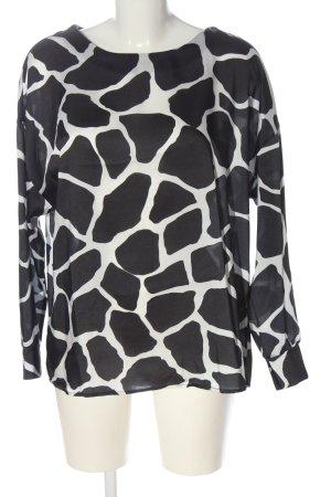 Nakd Slip-over Blouse black-white allover print casual look