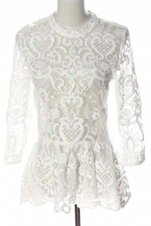 Nakd Slip-over Blouse white graphic pattern casual look