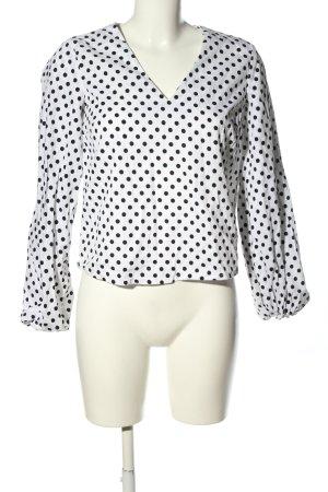 Nakd Slip-over Blouse white-black spot pattern casual look