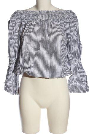 Nakd Slip-over Blouse light grey-white striped pattern casual look