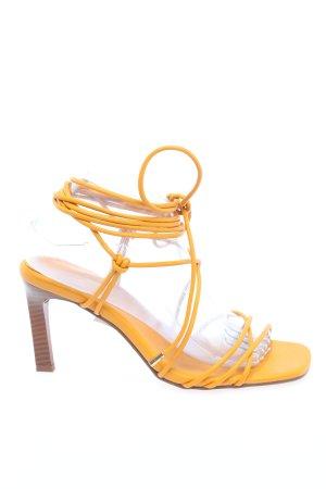 Nakd Tacones con cordones amarillo pálido look casual