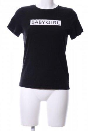 Nakd Shirt 34 Print schwarz weiß bedruckt