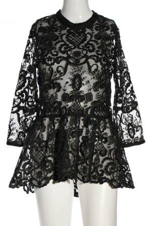 Nakd Spitzenbluse schwarz extravaganter Stil