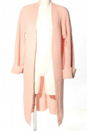 Nakd Strick Cardigan pink Zopfmuster Casual-Look