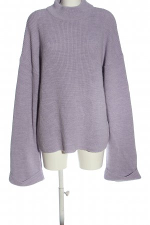 Nakd Strickpullover lila Casual-Look