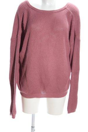 Nakd Strickpullover pink Casual-Look
