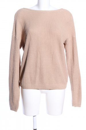 Nakd Strickpullover nude Zopfmuster Casual-Look