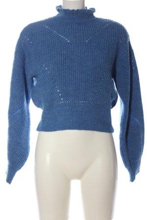 Nakd Strickpullover blau Casual-Look