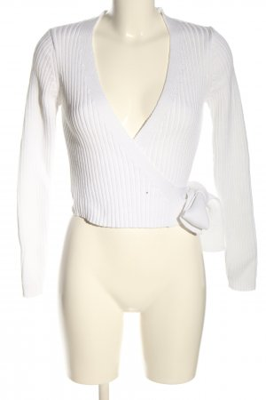 Nakd Knitted Wrap Cardigan white casual look