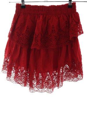 Nakd Gonna lunga stropicciata rosso mattone stile romantico