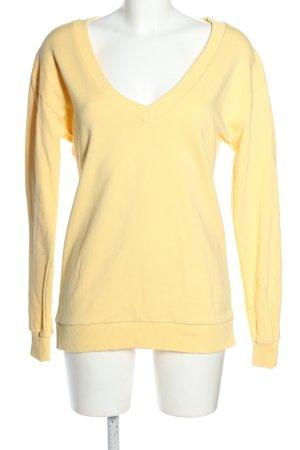 Nakd Sweatshirt blassgelb Casual-Look