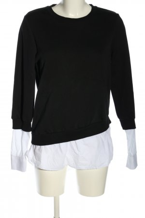 Nakd Sweatshirt schwarz-weiß Business-Look