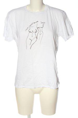 Nakd T-Shirt weiß-schwarz Motivdruck Casual-Look